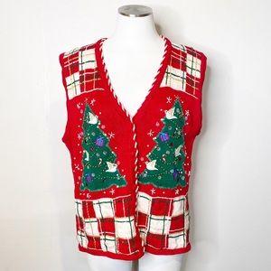 Vintage   Bobbie Brooks Ugly Holiday Sweater Vest
